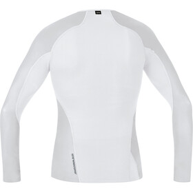 GORE WEAR Windstopper Baselayer Langarmshirt Herren light grey/white